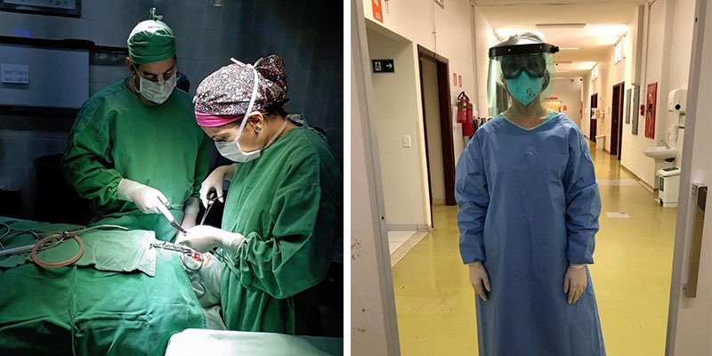 Smile Train surgeon in PPE